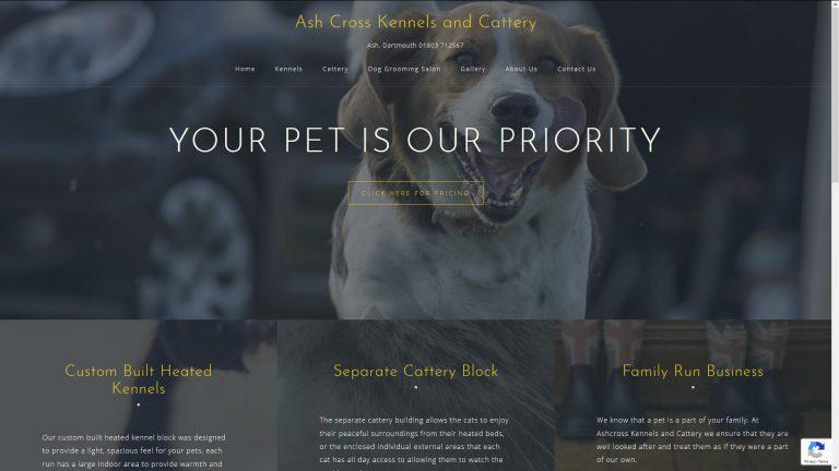 Ashcross Kennels Website